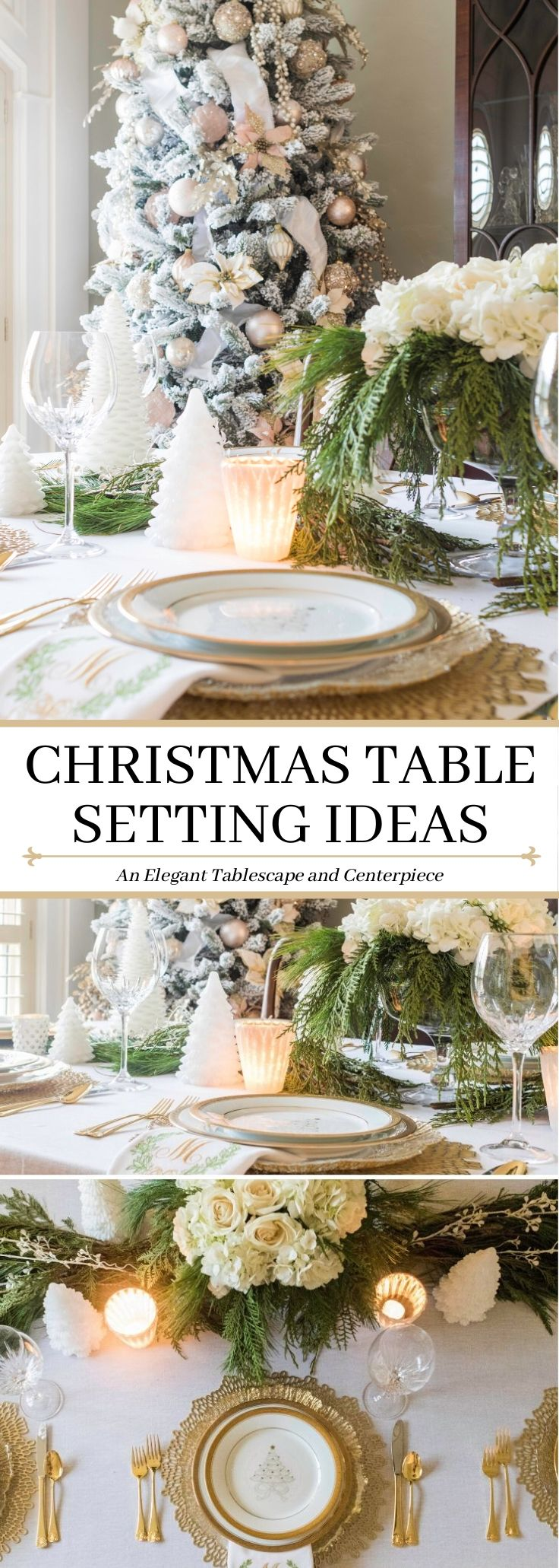 Image of: Elegant Christmas Table Setting Ideas Home Design Jennifer Maune