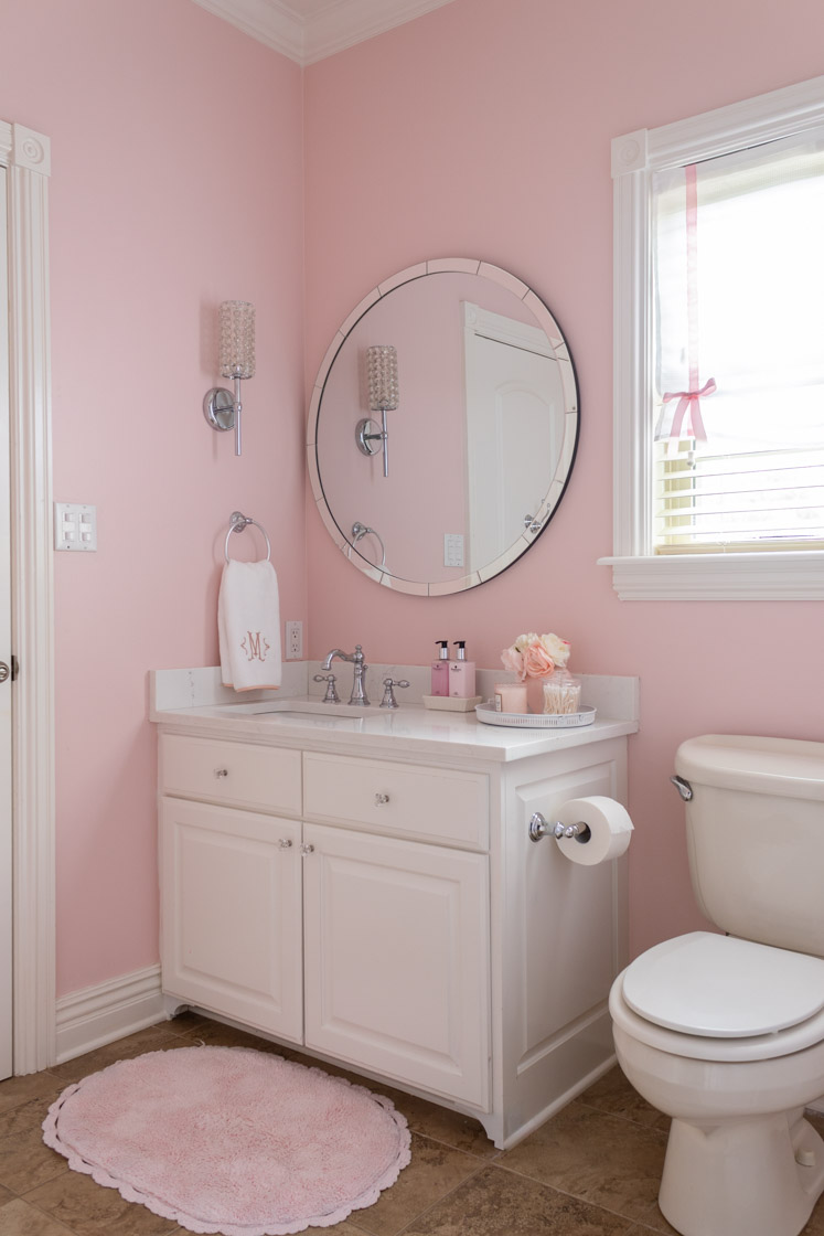 Small Bathroom Remodel Before And After Pink Design Ideas